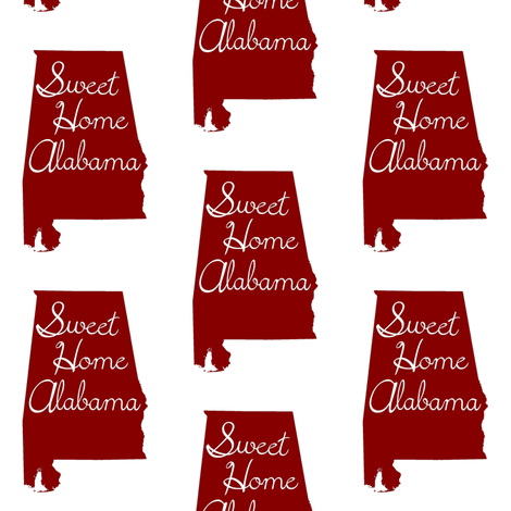 Sweet Home Alabama fabric by thinlinetextiles on Spoonflower - custom fabric