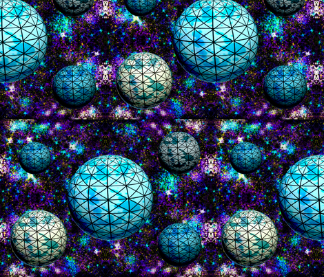 Geodesic space balls fabric by everhigh on Spoonflower - custom fabric