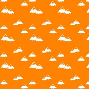 mountains on custom orange