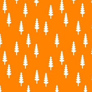 trees on custom orange