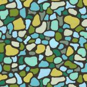Tessera 3 in sandstone, a free form mosaic by Su_G
