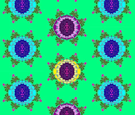 Mandala Flowers fabric by b2b on Spoonflower - custom fabric