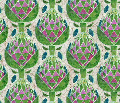 Geodesic Artichokes fabric by sarah_treu on Spoonflower - custom fabric