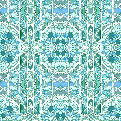 Of Paisley and Orbs fabric by edsel2084 on Spoonflower - custom fabric