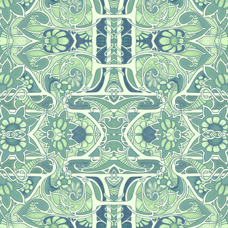 Contemplations on Mint Ice Cream fabric by edsel2084 on Spoonflower - custom fabric