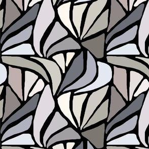 Fan Pattern in Earth Tones