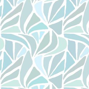 Fan Pattern in Sea Glass