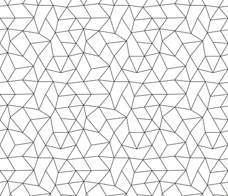 Abstract basic geometric triangle raster trend black and white fabric by littlesmilemakers on Spoonflower - custom fabric