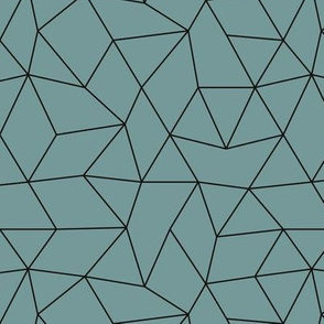 Abstract basic geometric triangle raster trend smoke blue