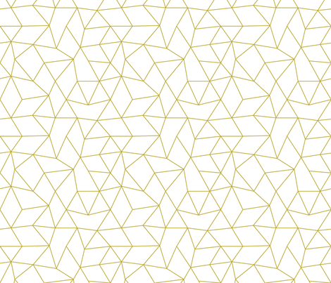 Abstract basic geometric triangle raster trend ochre mustard yellow fabric by littlesmilemakers on Spoonflower - custom fabric