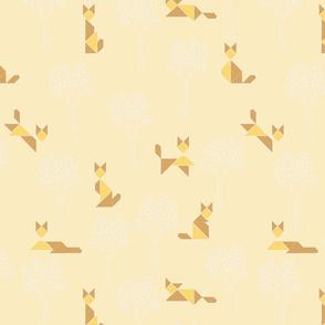 fox_tangram_monochrome_jaune