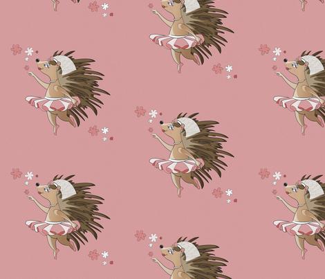 Dreamy Hedgehog fabric by selmacardoso on Spoonflower - custom fabric