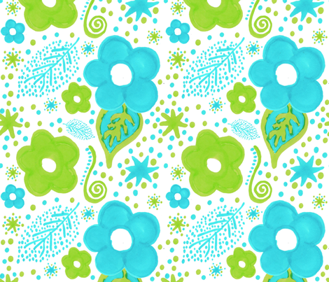 estampado_turquesa_verde fabric by marielatresoldi on Spoonflower - custom fabric