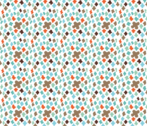 scattered crosses – white fabric by colorofmagic on Spoonflower - custom fabric
