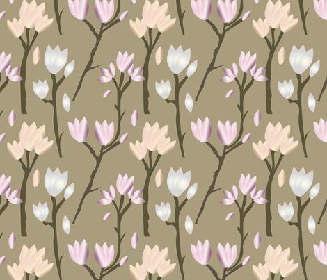 Magnolia Fair Light fabric by susiscauldron on Spoonflower - custom fabric