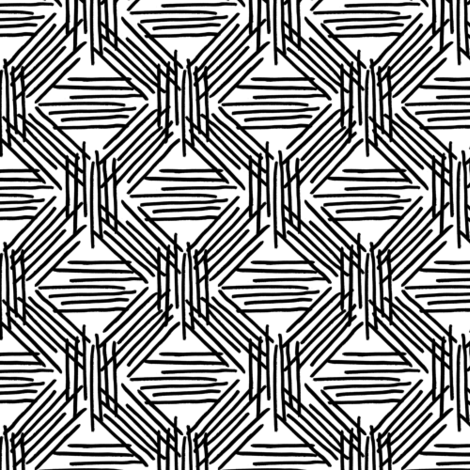 Inked lines fabric by epine on Spoonflower - custom fabric