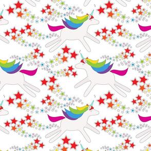 Rainbow unicorns and stars