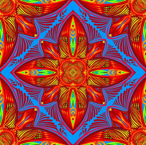 Bright Tiles 4 fabric by jadegordon on Spoonflower - custom fabric