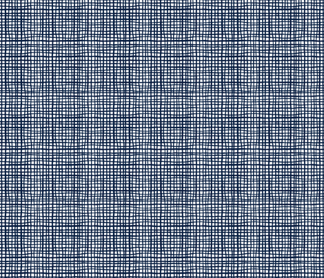 navy grid fabric home decor interior design fabric by charlottewinter on Spoonflower - custom fabric