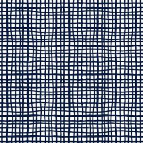 navy grid fabric home decor interior design