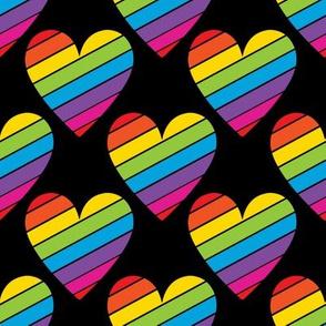 80's Child Rainbow Hearts