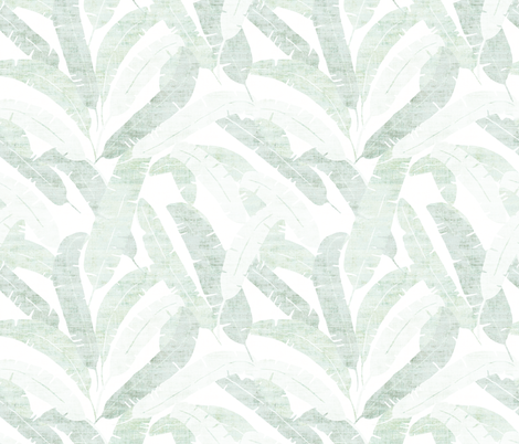 BANANA_LEAF_LIGHT fabric by holli_zollinger on Spoonflower - custom fabric