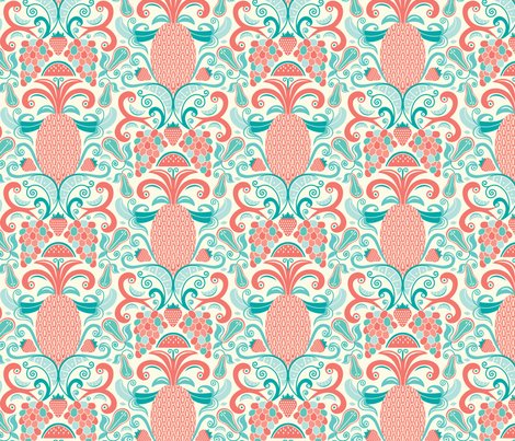 Rambrosia_damask_coral_teal_aqua_flat_400__shop_preview