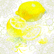 watercolor lemon
