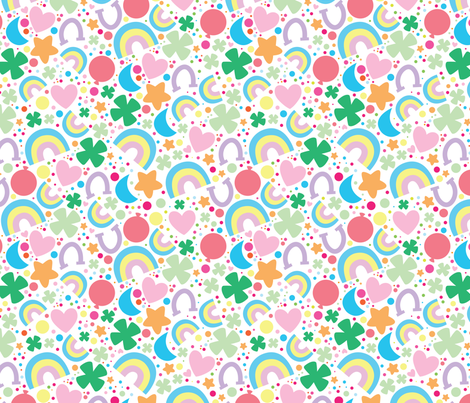 aloha lucky on white fabric by alohababy on Spoonflower - custom fabric