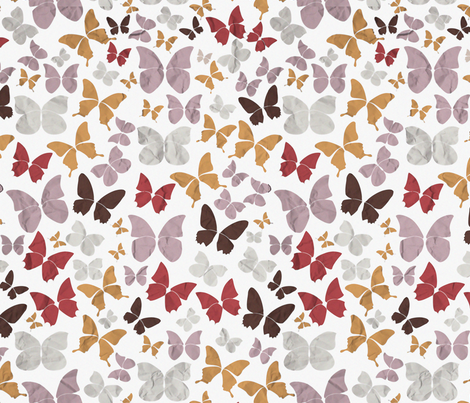 Panapaná II - Butterflies fabric by selmacardoso on Spoonflower - custom fabric