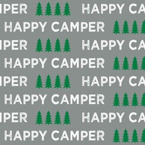 happy camper || dark grey and green