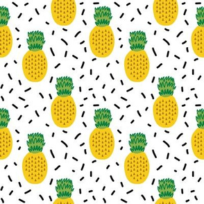 pineapple fabric yellow pineapples tropical summer fruit fabric