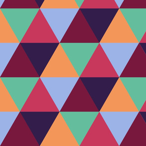 Bright geometric pattern with triangle