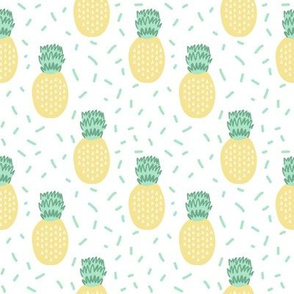 pineapple fabric pastel summer tropical summer fruit fabric