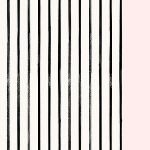 Mod Thin Stripe Border-Blush