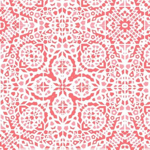 Coral pink summer Mosaic, Marrakesh inspired