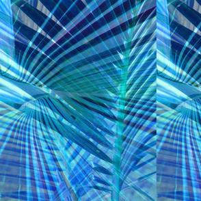 Blue Palm Leaf Placemat