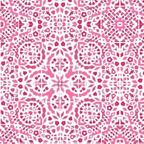 Pink  mosaic tiles