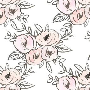 blush modern floral