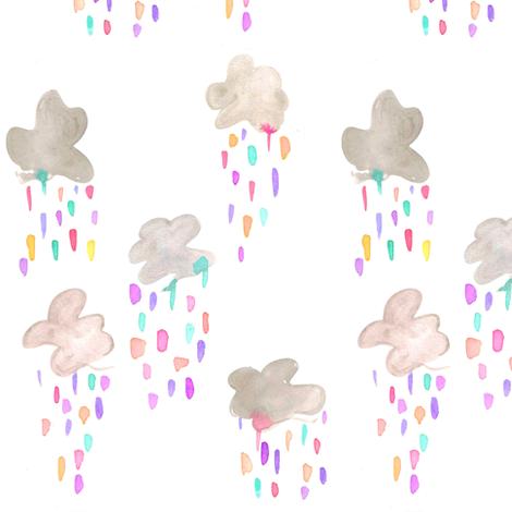 rainbow raincloud fabric by erinanne on Spoonflower - custom fabric