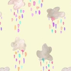 rainbow raincloud pale yellow