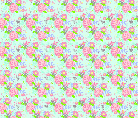 Victorian Garden Dreamland fabric by selinahudsondesigns on Spoonflower - custom fabric