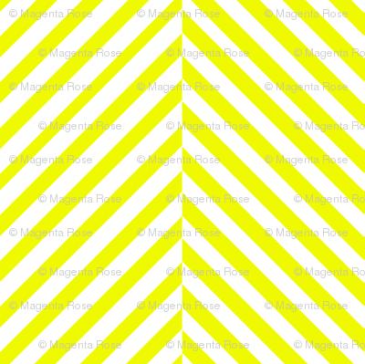 Yellow and white herringbone chevron // Sunshine herringbone