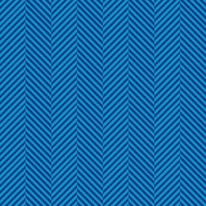 Blue herringbone // blue chevron