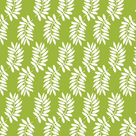 palms fabric // palm leaf tropical leaves fabric tropical fabric - lime green fabric by andrea_lauren on Spoonflower - custom fabric