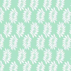 palms fabric // palm leaf tropical leaves fabric tropical fabric - mint