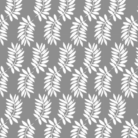palms fabric // palm leaf tropical leaves fabric tropical fabric - grey fabric by andrea_lauren on Spoonflower - custom fabric