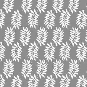 palms fabric // palm leaf tropical leaves fabric tropical fabric - grey