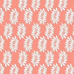 palms fabric // palm leaf tropical leaves fabric tropical fabric - coral