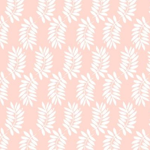 palms fabric // palm leaf tropical leaves fabric tropical fabric - blush